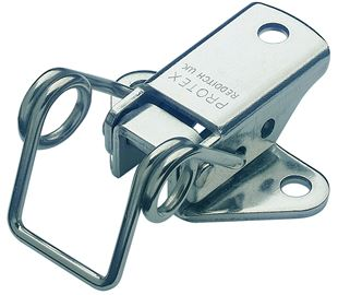 Spring Claw Toggle Latch Light Duty Mild Steel Zinc Plate Passivate (Silver Blue)