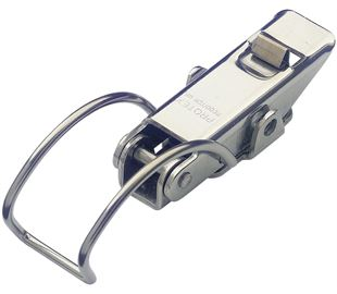 Spring Claw Toggle Latch with Safety Catch Light Duty Stainless Steel (Natural)