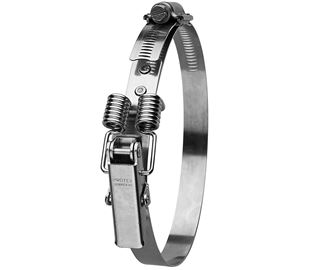 250-295mm Diameter Hi-Torque Spring Claw Stainless Steel Quick Release Bandclamp (Natural)