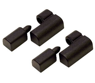 Hinge Lift Off, Type A Offset, (Pack of 2 Pairs) Zinc Alloy (Black)
