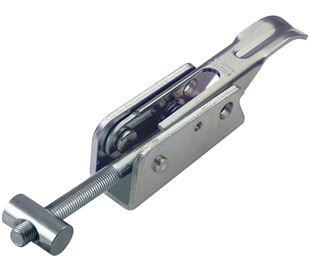 Adjustable Toggle Latch Heavy Duty Padlockable Mild Steel Zinc Plate Passivate (Silver Blue) Self Finish Base
