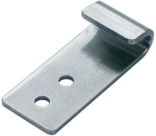 Catch Plate for Toggle Latch Mild Steel Zinc Plate Passivate (Silver Blue)