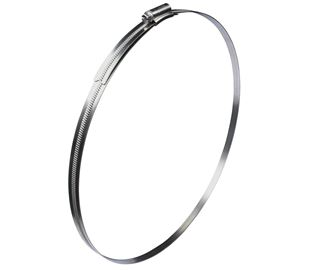 184mm-216mm Diameter Jubilee Worm Drive Hose Clip High-Grip Stainless Steel (Natural)