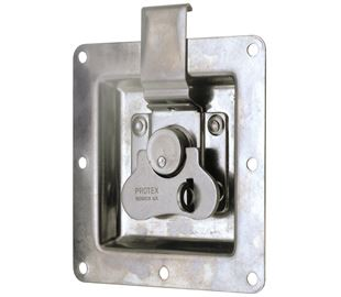 Rotary Turn Latch in Recess Dish Padlockable Stainless Steel (Natural)