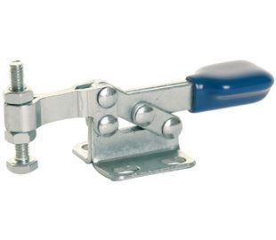Toggle Clamp Horizontal Action Mild Steel Zinc Plate Passivate (Silver Blue)